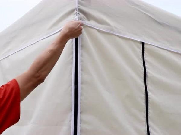 带围布的帐篷
